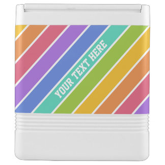 Rainbow Colors custom cooler Igloo Cool Box