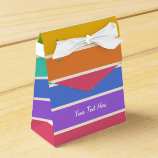 Rainbow Colors custom favor boxes