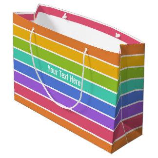 Rainbow Colors custom gift bag - large
