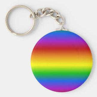 Rainbow Colors custom key chain