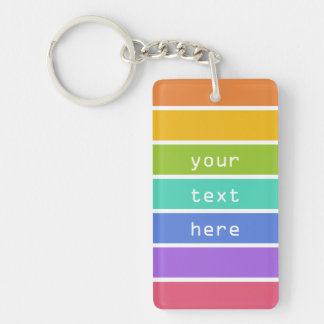 Rainbow Colors custom key chains