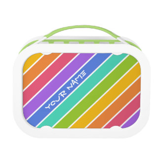 Rainbow Colors custom lunch boxes