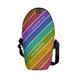 Rainbow Colors custom messenger bag