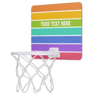 Rainbow Colors custom mini hoop