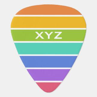 Rainbow Colors custom monogram guitar picks