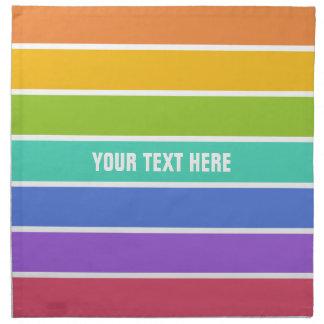 Rainbow Colors custom napkins