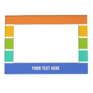 Rainbow Colors custom photo frame