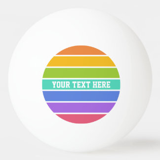 Rainbow Colors custom ping pong balls