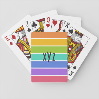 Rainbow Colors custom playing cards