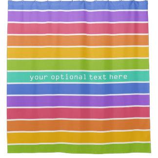 Rainbow Colors custom shower curtain