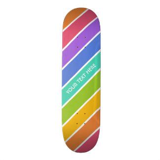 Rainbow Colors custom skateboards