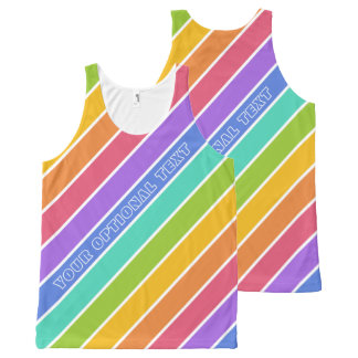 Rainbow Colors custom tanktop All-Over Print Tank Top