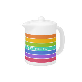 Rainbow Colors custom teapot