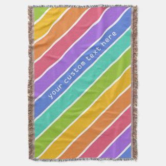 Rainbow Colors custom throw blanket