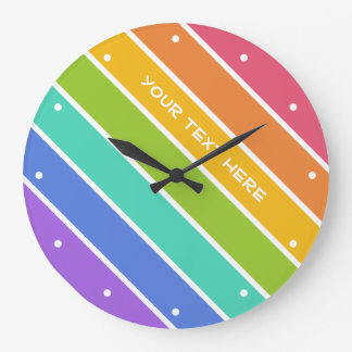 Rainbow Colors custom wall clocks