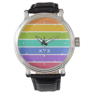 Rainbow Colors custom watches