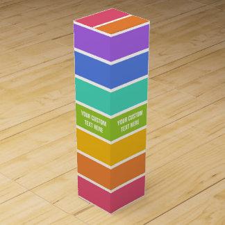 Rainbow Colors custom wine gift box