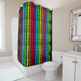 Rainbow Colors Dominoes Shower Curtain