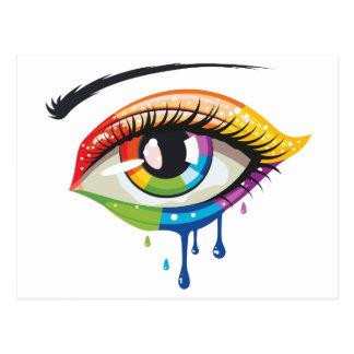 Rainbow Colors Eye Postcard