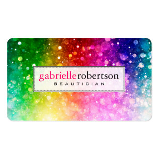 Rainbow Colors Glitter And Sparkles Pack Of Standard Business Cards
