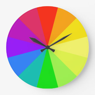 Rainbow Colors Large Clock