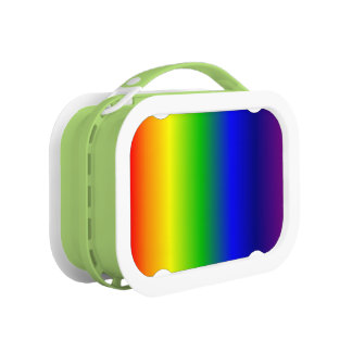 Rainbow Colors Lunch Box Green