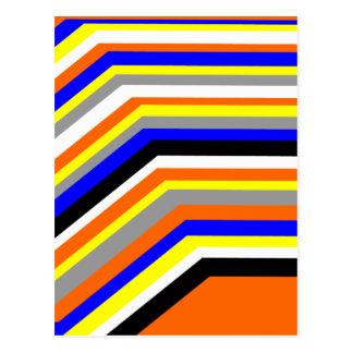 rainbow colors post card