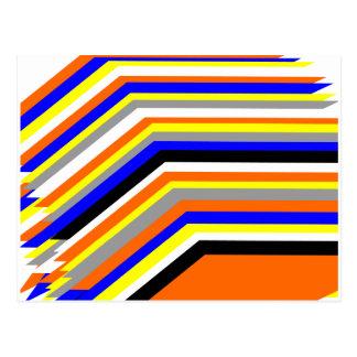rainbow colors postcard