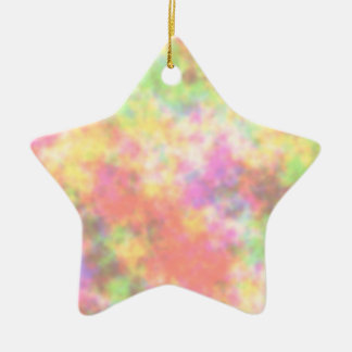 Rainbow Colors. Pretty, Colorful Clouds. Christmas Ornament