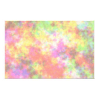 Rainbow Colors. Pretty, Colorful Clouds. Stationery