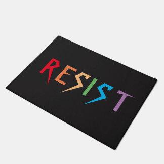 Rainbow Colors Resist Door Mat