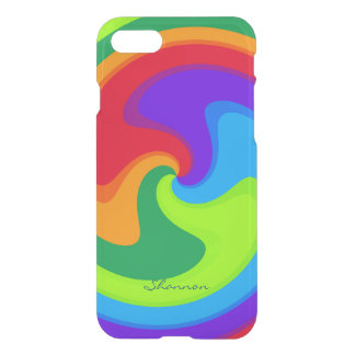 Rainbow Colors Spiral Striped iPhone 7 case