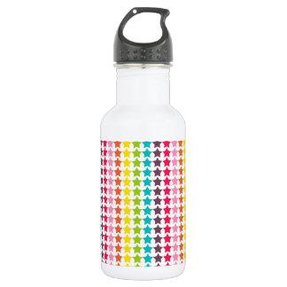 Rainbow Colors Star Pattern 532 Ml Water Bottle