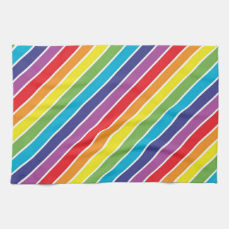 Rainbow colors tea towel