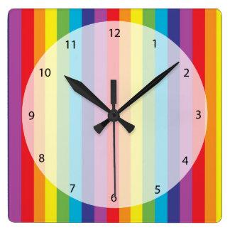 Rainbow colors wall clocks