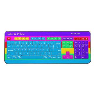 Rainbow Colors Wireless Keyboard