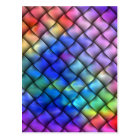 Rainbow Colour Basket Weave Postcard