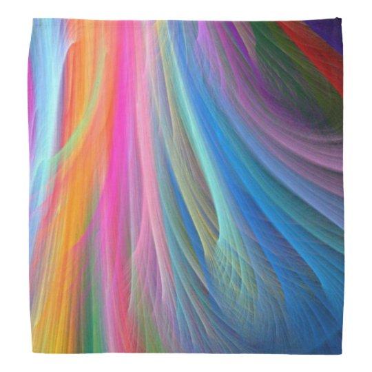 Rainbow Colour Feather Design Bandana