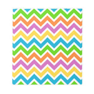 rainbow coloured chevron zigzag pattern design notepad