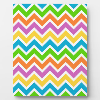 rainbow coloured chevron zigzag pattern design plaque