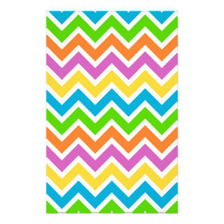 rainbow coloured chevron zigzag pattern design stationery