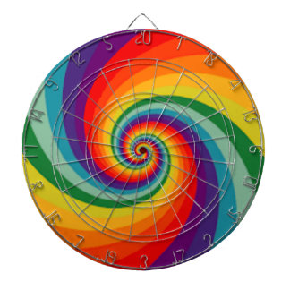 Rainbow coloured Dart board by Dmt
