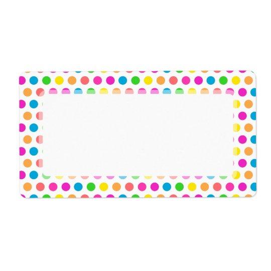 Rainbow Coloured Polka Dots Fun Happy Pattern