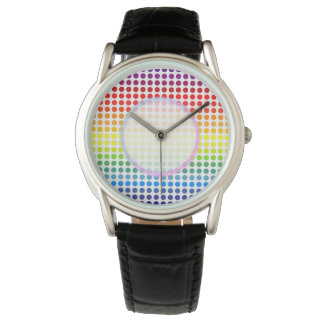 Rainbow Coloured Polkadot Watch