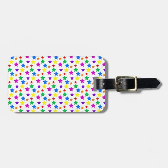 Rainbow Coloured Stars Luggage Tag