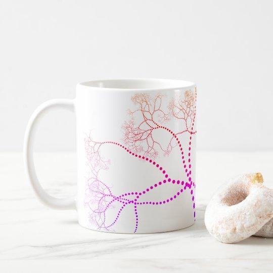 Rainbow Coloured Tree Digital Art Coffee Mug