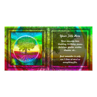 Rainbow Coloured Tree of Life Picture Card