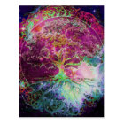 Rainbow Coloured Tree of Life Postcard