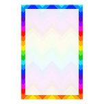 Rainbow Colours #2 Large Chevron ZigZag Pattern Stationery Paper