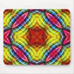 Rainbow Colours Abstract Pattern Mouse Mat